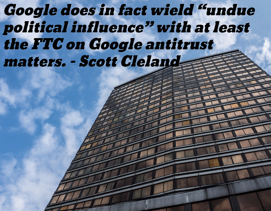 google undue political influence over ftc